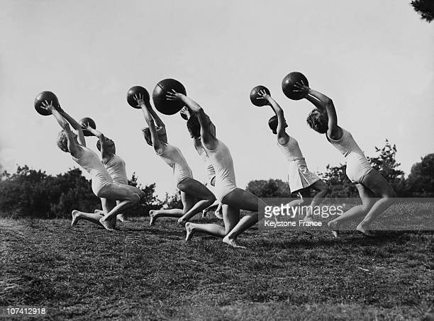 Rhythmic Gymnastics Ball Training On April 1938