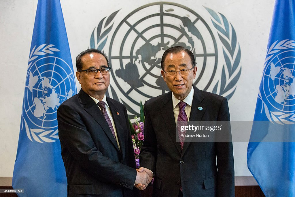 North Korea's Foreign Minister Meets With Ban Ki-Moon At UN