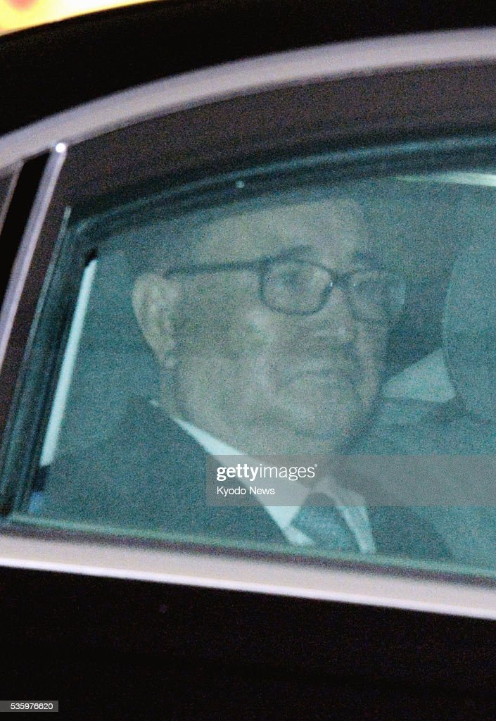 Ri Su Yong, vice chairman of North Korea's ruling Workers' Party of Korea, is seen inside a vehicle after arriving in Beijing on May 31, 2016. During a surprise visit to the Chinese capital, seen as a potential sign of Pyongyang's latest attempt to mend fences with its most important ally, Ri is expected to brief Chinese officials on the results of the party's congress, which was held for the first time in 36 years.