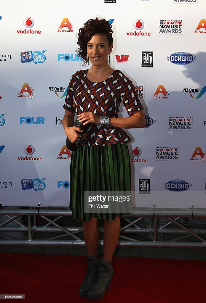 Ria Hall arrives for the 2012 Vodafone New Zealand Music Awards at Vector Arena on November 1, 2012 in Auckland, New Zealand.