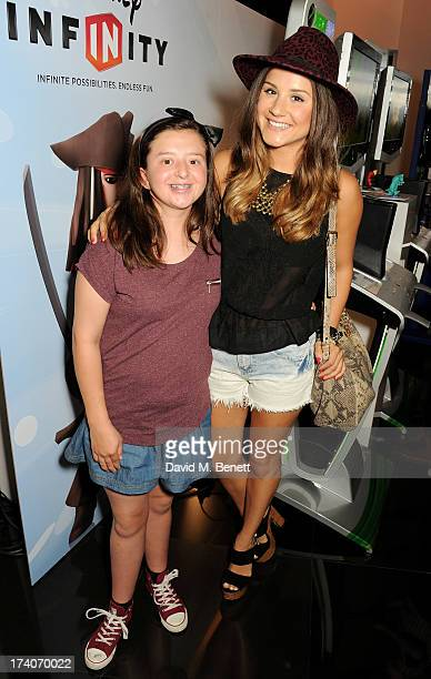 Ria James and Electra Formosa attend an exclusive launch event for upcoming videogame 'Disney Infinity' released nationwide on August 23rd at...