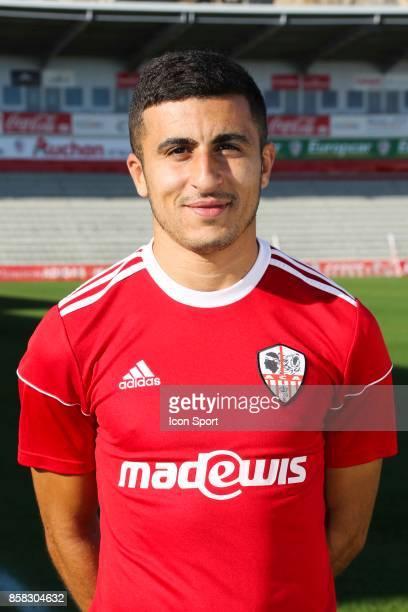 Riad Nouri during photoshooting of AC Ajaccio for new season 2017/2018 on October 5 2017 in Ajaccio France