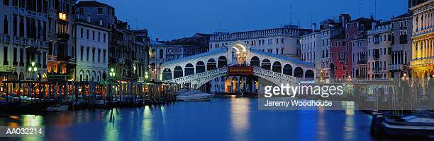 Rialto Bridge and Grand Canal at Dusk, Venice