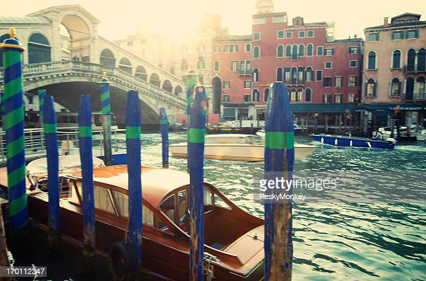 Rialto Bridge Venice Italy Golden Sunrise Grand Canal