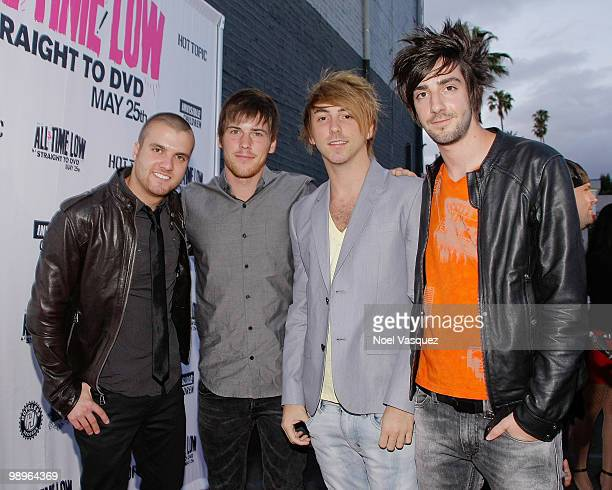Rian Dawson Zack Merrick Alex Gaska and Jack Barakak of All Time Low attend the screening and release party for All Time Low's 'Straight To DVD' at...