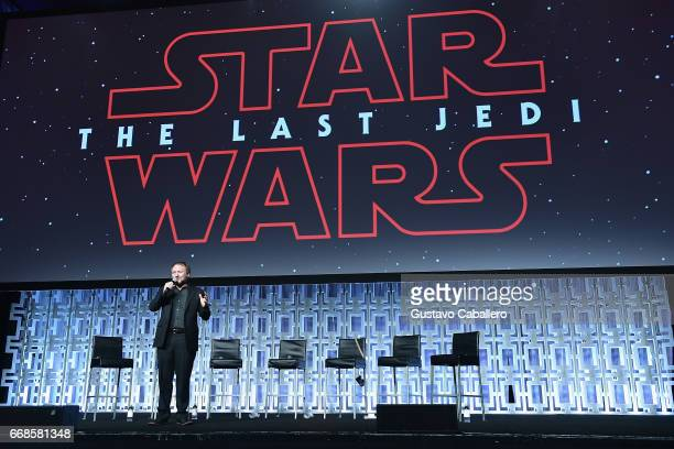 Rian Johnson attends the Star Wars Celebration day 02 on April 14 2017 in Orlando Florida