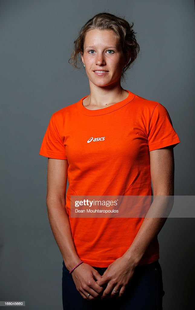 Rianne de Vries, poses during the NOC*NSF (Nederlands Olympisch Comite * Nederlandse Sport Federatie) Sochi athletes and officials photo shoot for Asics at the Spoorwegmuseum on May 4, 2013 in Utrecht, Netherlands.