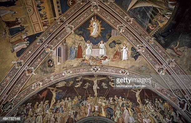 Rib Vault of Resurrection of Jesus by Andrea di Bonaiuto 13651367 14th Century fresco Italy Tuscany Florence Church of Santa Maria Novella Whole...