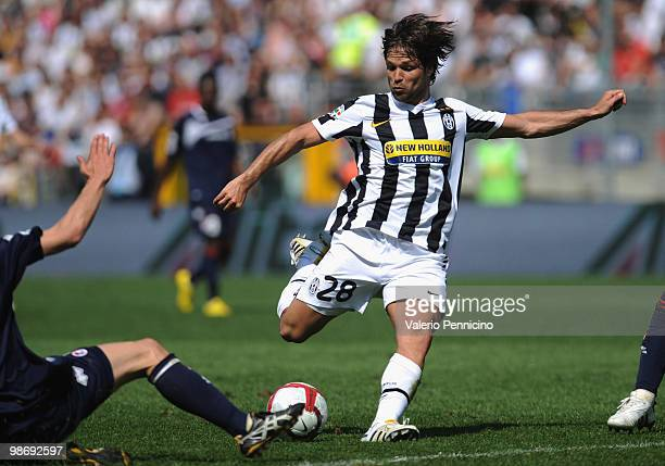 Ribas Da Cunha Diego of Juventus FC in action during the Serie A match between Juventus FC and AS Bari at Stadio Olimpico on April 25 2010 in Turin...