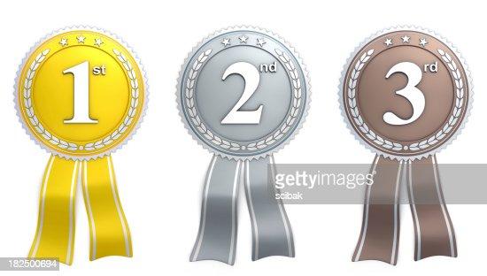 ribbon - gold silver bronze