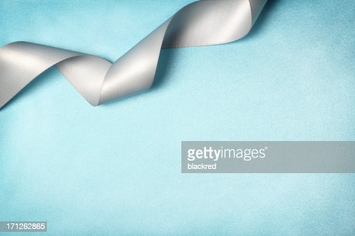 Ribbon on Silk Texture Background