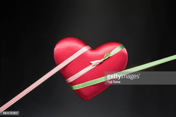 ribbon tape keep red heart
