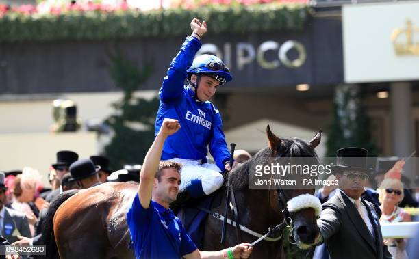 Ribchester ridden by jockey William Buick after winning the Queen Anne Stakes during day one of Royal Ascot at Ascot Racecourse