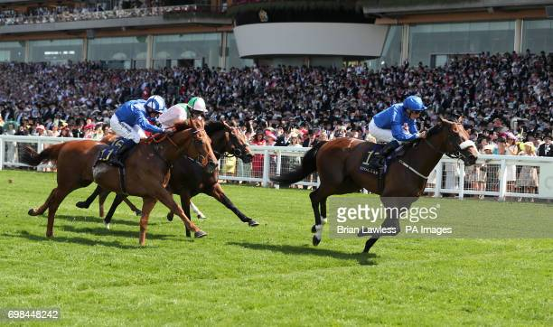 Ribchester ridden by jockey William Buick on his way to winning the Queen Anne Stakes during day one of Royal Ascot at Ascot Racecourse