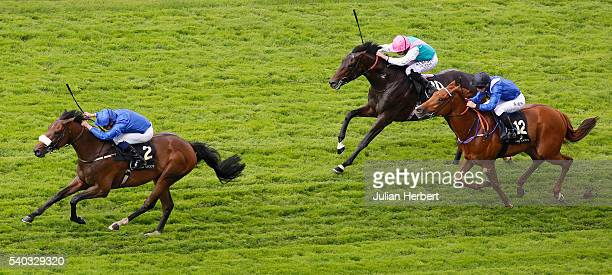 Ribchester ridden by William Buick leads the field home to win The Jersey Stakes Race run during Day Two of Royal Ascot at Ascot Racecourse on June...