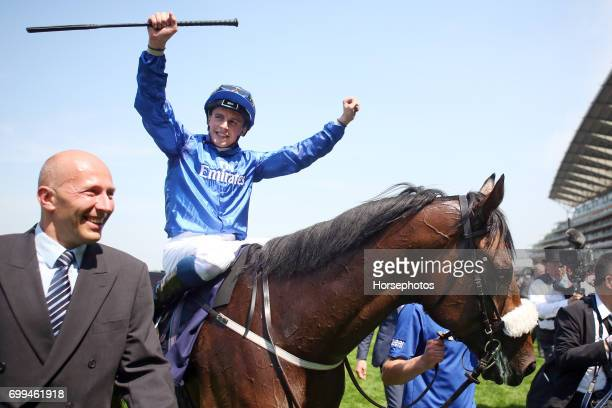 Ribchester with William Buick up after winning the Queen Anne Stakesat Ascot Racecourse on June 20 2017 in Ascot England