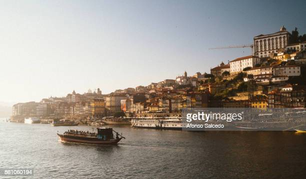 Ribeira, the old downtown area of Porto as seen from the Douro River.