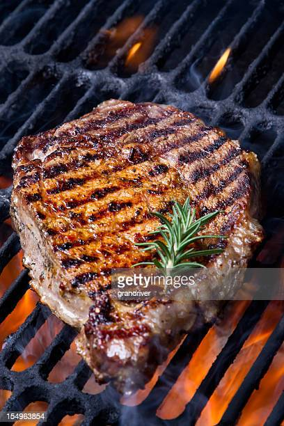 Ribeye Steak on Grill