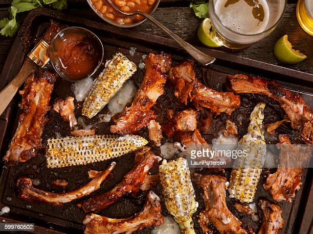 BBQ Ribs and Corn