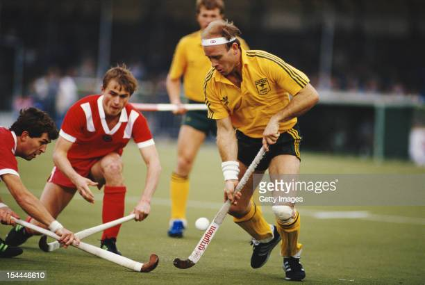 Ric Charlesworth of Australia during the semi final match against the Soviet Union at the 6th FIH Men's Field Hockey World Cup on 18th October 1986...