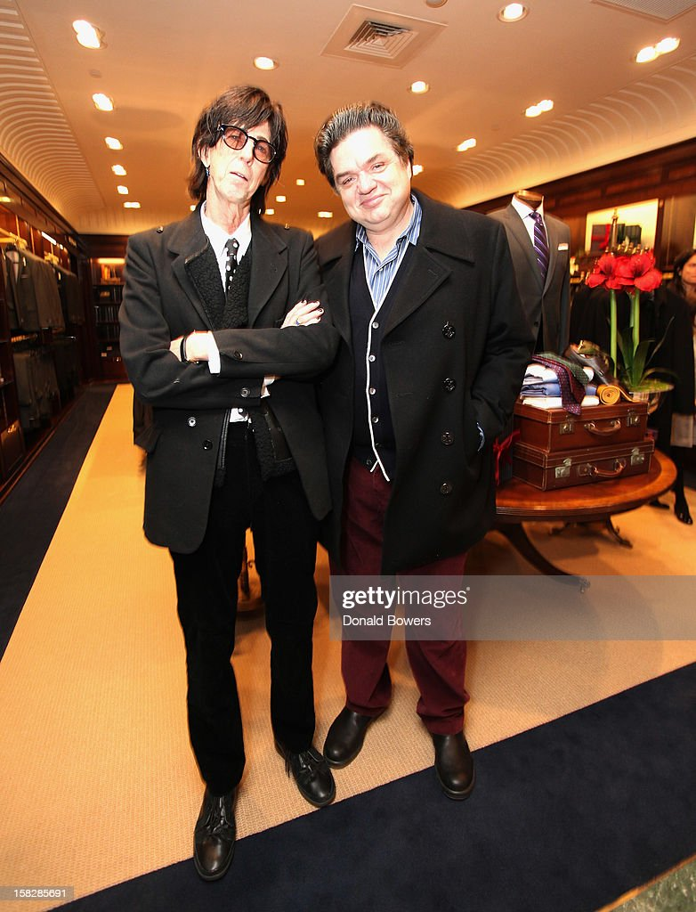 <a gi-track='captionPersonalityLinkClicked' href=/galleries/search?phrase=Ric+Ocasek&family=editorial&specificpeople=569822 ng-click='$event.stopPropagation()'>Ric Ocasek</a> and <a gi-track='captionPersonalityLinkClicked' href=/galleries/search?phrase=Oliver+Platt&family=editorial&specificpeople=227248 ng-click='$event.stopPropagation()'>Oliver Platt</a> attend The Brooks Brothers Hosts Seventh Annual Holiday Celebration To Benefit St Jude Children's Research Hospital on December 12, 2012 in New York City.