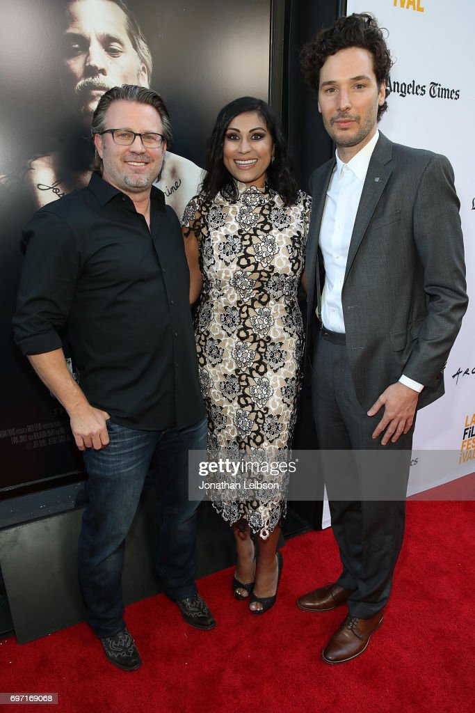 Ric Roman Waugh, Hanny Patel and Jonathan Saba attend the AT&T And Saban Films Present The LAFF Gala Premiere Of Shot Caller at ArcLight Cinemas on June 17, 2017 in Culver City, California.