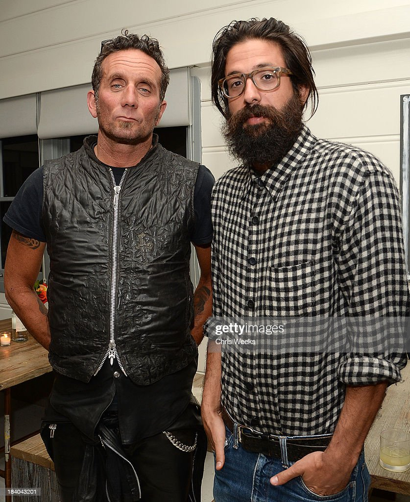 Ricahrd Stark and Greg Chait attend a dinner for Gareth Pugh hosted by Chrome Hearts at Malibu Farm on October 10, 2013 in Malibu, California.
