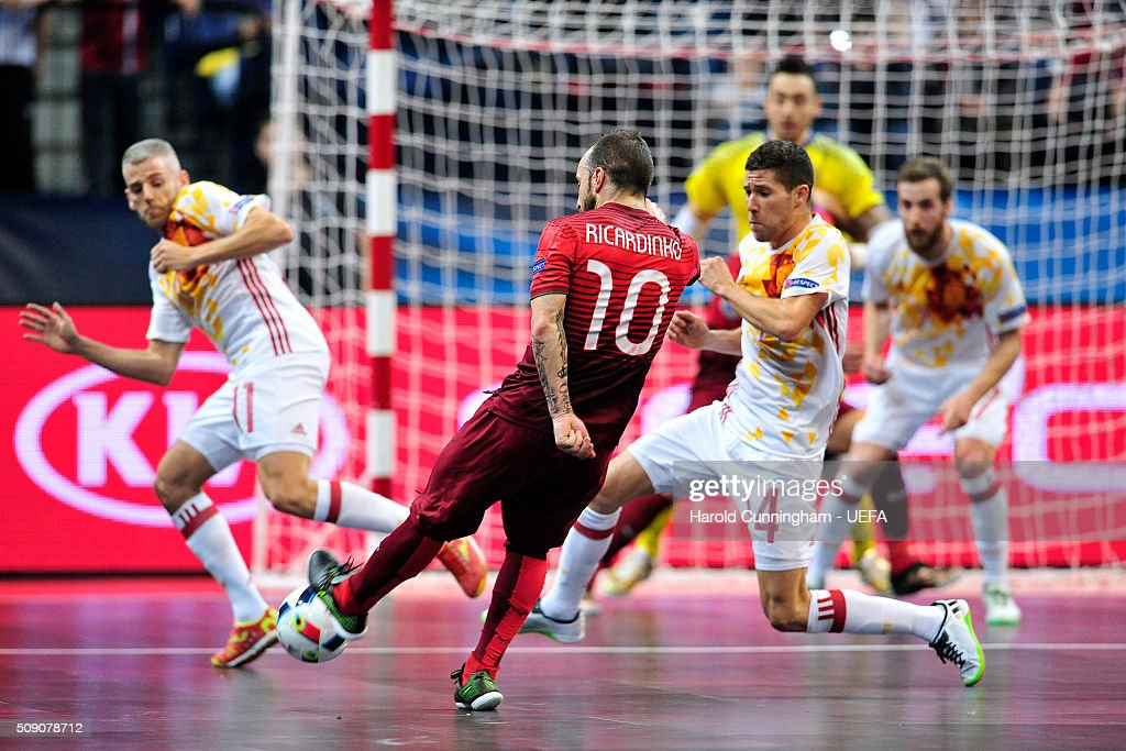 Ricardinho of Portugal in action during the UEFA Futsal EURO 2016 quarter final match between Portugal and Spain at Arena Belgrade on February 8, 2016 in Belgrade, Serbia.