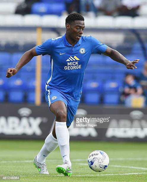 Ricardo Almeidwa Santos of Peterborough in action during the pre season friendly match between Peterborough United and a Tottenham Hotspur XI at...