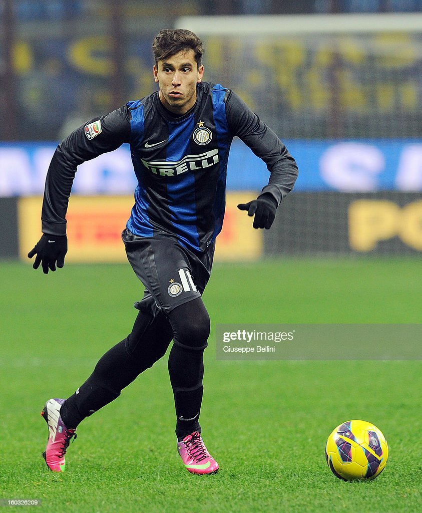 Ricardo Alvarez of Inter in action during the Serie A match between FC Internazionale Milano and Torino FC at San Siro Stadium on January 27, 2013 in Milan, Italy.