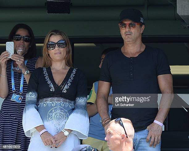 Ricardo Arjona is sighted at Sony Open Tennis at Crandon Park Tennis Center on March 30 2014 in Key Biscayne Florida