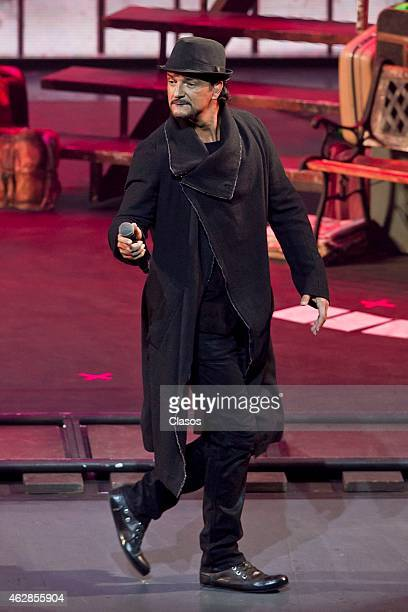 Ricardo Arjona performs during a concert at National Auditorium on February 05 2015 in Mexico City Mexico