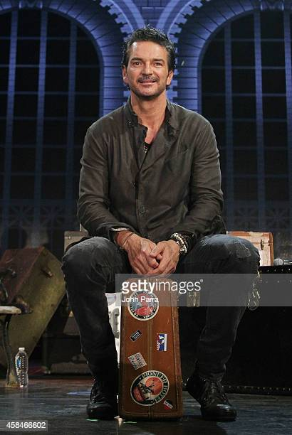 Ricardo Arjona speaks during his press conference to talk about his upcoming tour at American Airlines Arena on November 5 2014 in Miami Florida