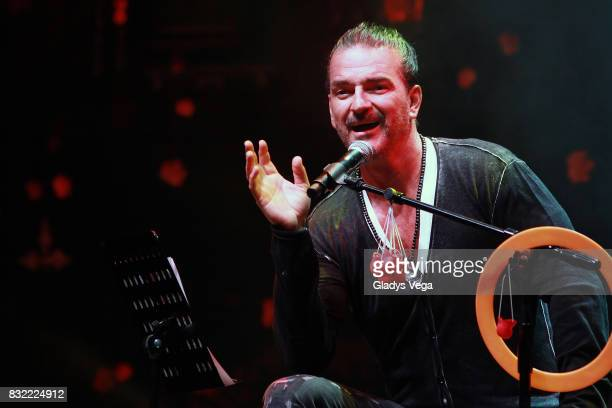 Ricardo Arjona talks and performs as part of press conference for his upcoming concert tour 'Circo Soledad' at Coliseo Jose M Agrelot on August 15...