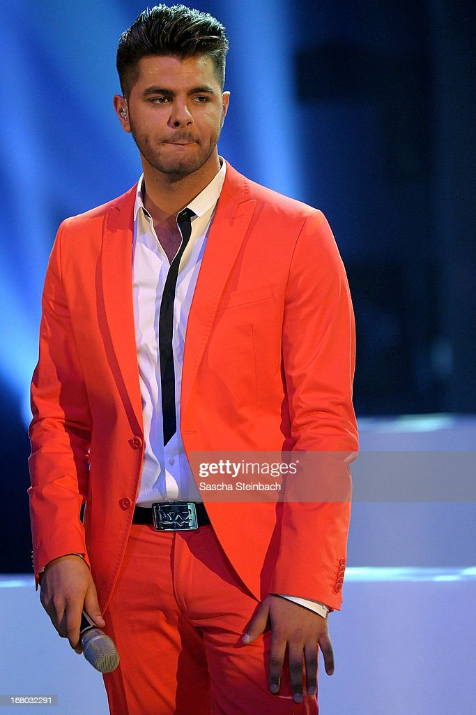 Ricardo Bielecki looks dejected during the rehearsal for the semi final of 'Deutschland Sucht Den Superstar' at Coloneum on May 4, 2013 in Cologne, Germany.