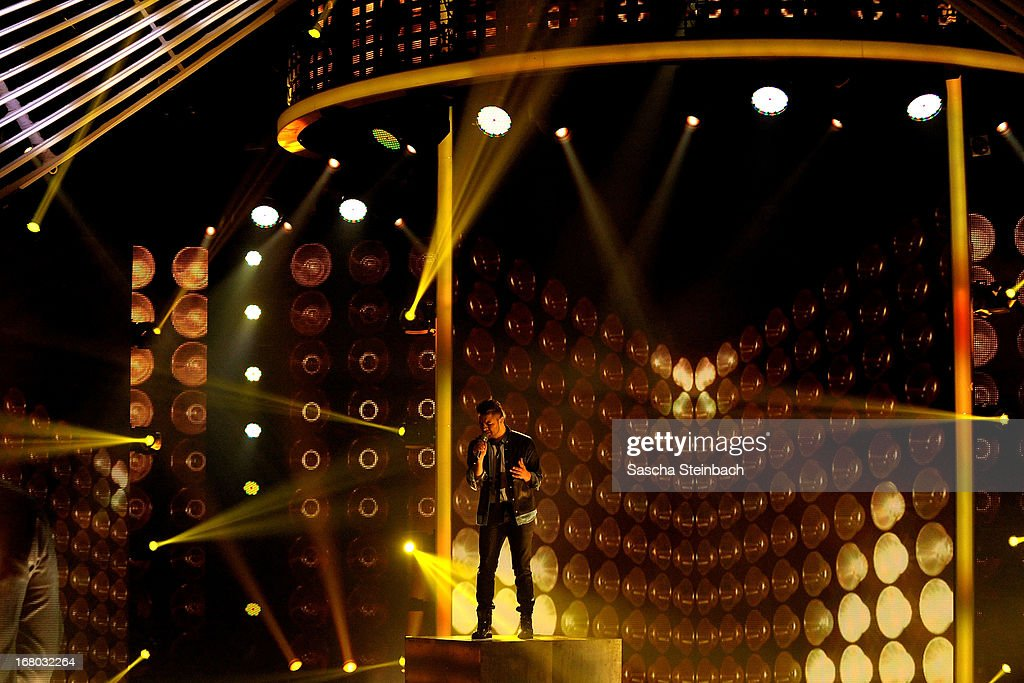 Ricardo Bielecki performs during the rehearsal for the semi final of 'Deutschland Sucht Den Superstar' at Coloneum on May 4, 2013 in Cologne, Germany.