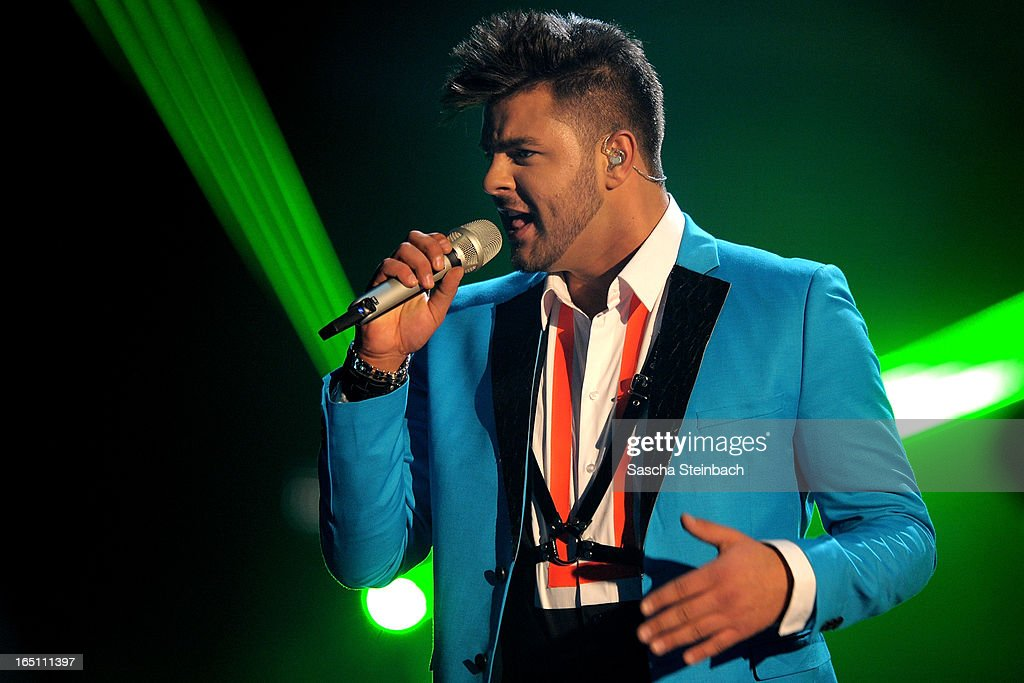 Ricardo Bielecki performs during the rehearsal of the third 'Deutschland sucht den Superstar' Show at Coloneum on March 30, 2013 in Cologne, Germany.