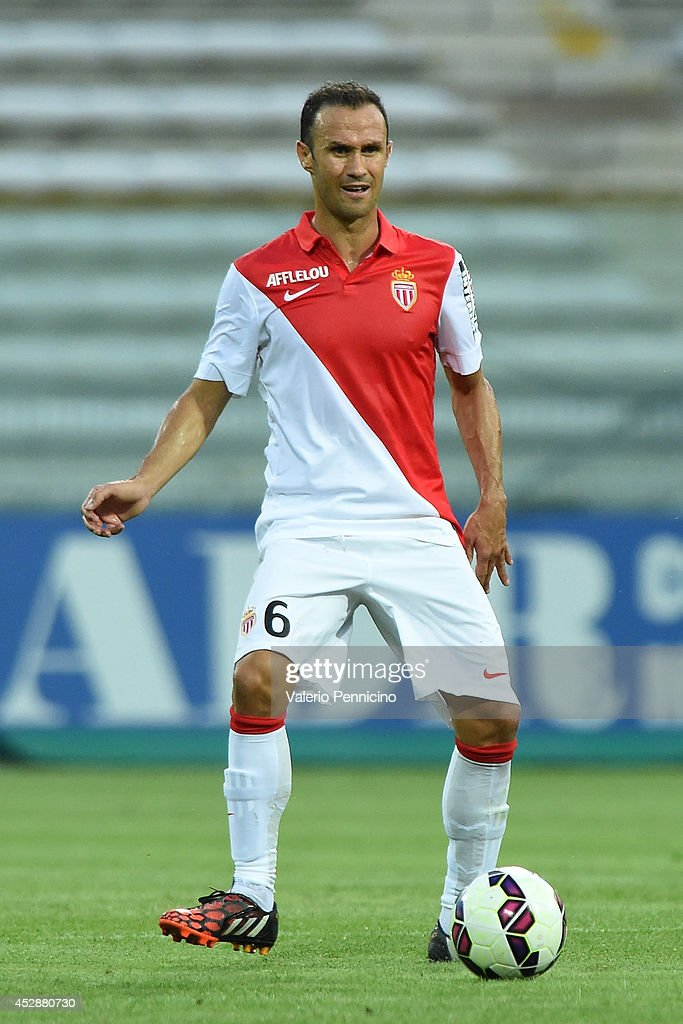 Ricardo Carvalho of AS Monaco FC in action during the preseason friendly match between FC Parma and AS Monaco FC at Stadio Ennio Tardini on July 28...