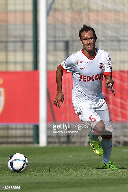 Ricardo Carvalho of AS Monaco in action during the preseason friendly match between Queens Park Rangers and AS Monaco on July 14 2015 in Chatillon...