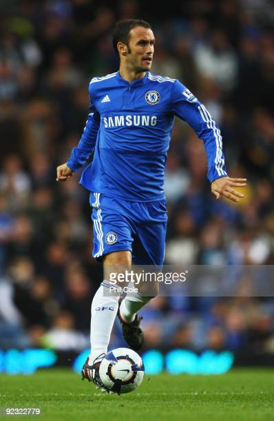 Ricardo Carvalho of Chelsea in action during the Barclays Premier League match between Chelsea and Blackburn Rovers at Stamford Bridge on October 24...