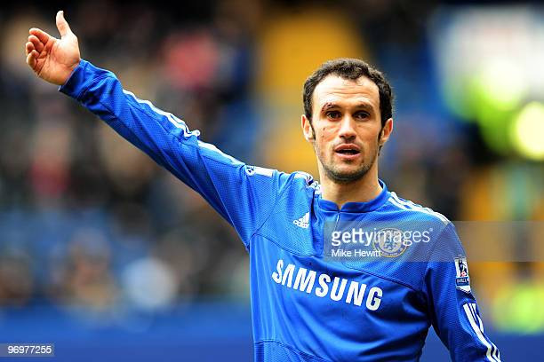 Ricardo Carvalho of Chelsea in action during the Eon sponsored FA Cup 5th Round match between Chelsea and Cardiff City at Stamford Bridge on February...