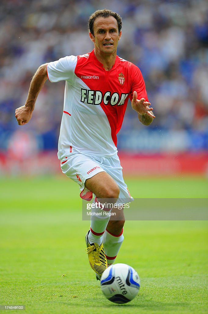 Ricardo Carvalho of Monaco in action during the the pre season friendly match between Leicester City and Monaco at The King Power Stadium on July 27...