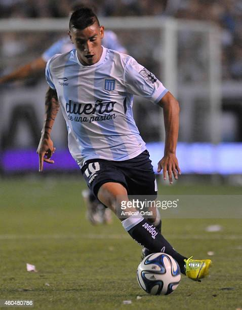 Ricardo Centurion of Racing Club drives the ball during a match between Racing Club and Godoy Cruz as part of 19th round of Torneo de Transicion 2014...