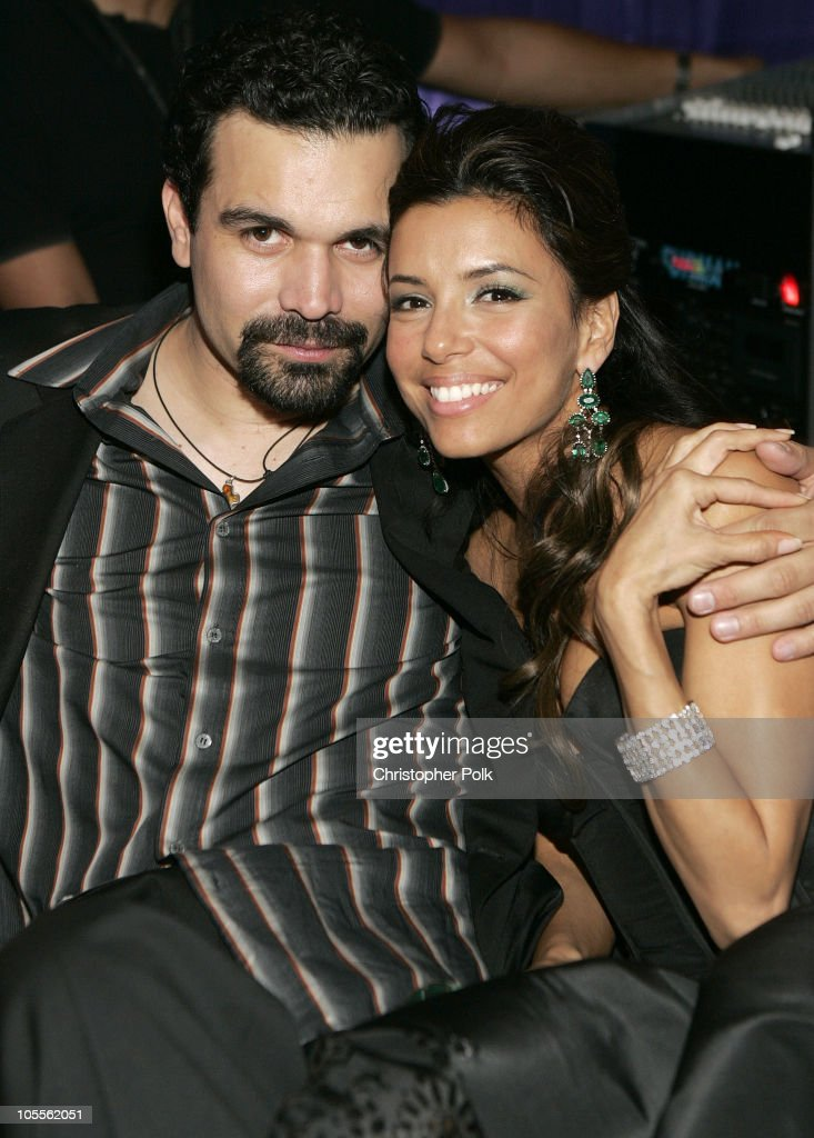 Ricardo Chavira and Eva Longoria during Instyle/Warner Bros Golden Globe Awards Post Party Inside at Beverly Hills Hilton in Beverly Hills California...