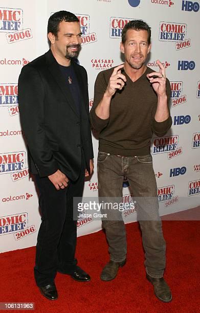 Ricardo Chavira and James Denton 12699_JG_173jpg during TBS 'Comic Relief 2006' Red Carpet at Caesars Palace in Las Vegas Nevada United States