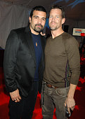 Ricardo Chavira and James Denton during HBO AEG Live's 'The Comedy Festival' Comic Relief 2006 Backstage at Caesars Palace in Las Vegas Nevada United...