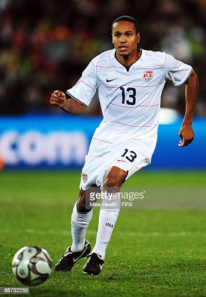 Ricardo Clark of USA in action during the FIFA Confederations Cup Final between USA and Brazil at the Ellis Park Stadium on June 28 2009 in...