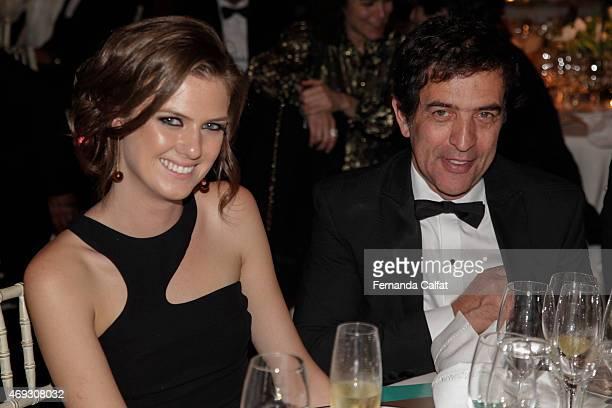 Ricardo de Almeida and wife attend the 5th Annual amfAR Inspiration Gala at the home of Dinho Diniz on April 10 2015 in Sao Paulo Brazil