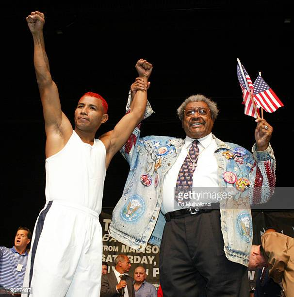 Ricardo 'El Matador' Mayorga with Don King weighing in for his fight with Felix 'Tito' Trinidad The two will meet on Saturday Night at Madison Square...