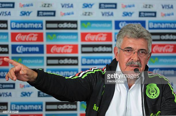 Ricardo Ferreti head coach of Mexico's National Soccer Team speaks during a press conference to unveil him as new coach of Mexico at Alto Rendimiento...